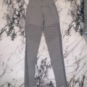 Pants - RyderWear Moto Gray Legging w/ Mesh - Size XS